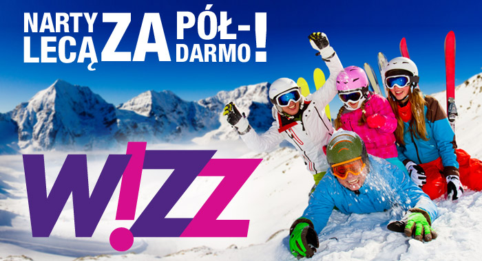 WizzAir – narty lecą za półdarmo!!