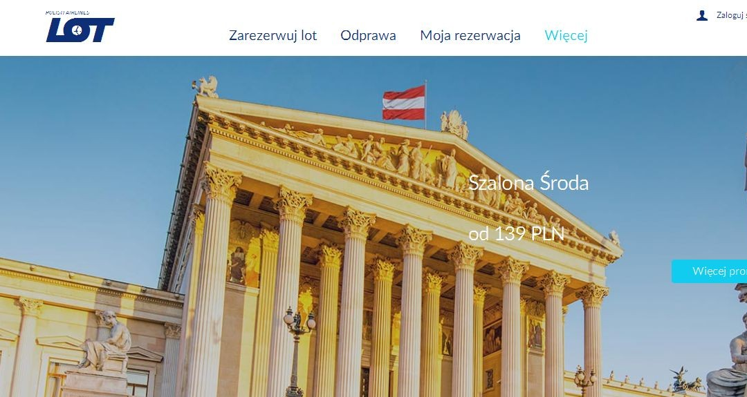 LOT Szalona Środa: Ceny już od 139 zł/os Olsztyn, 449 zł/os Hamburg, Mediolan i Wiedeń