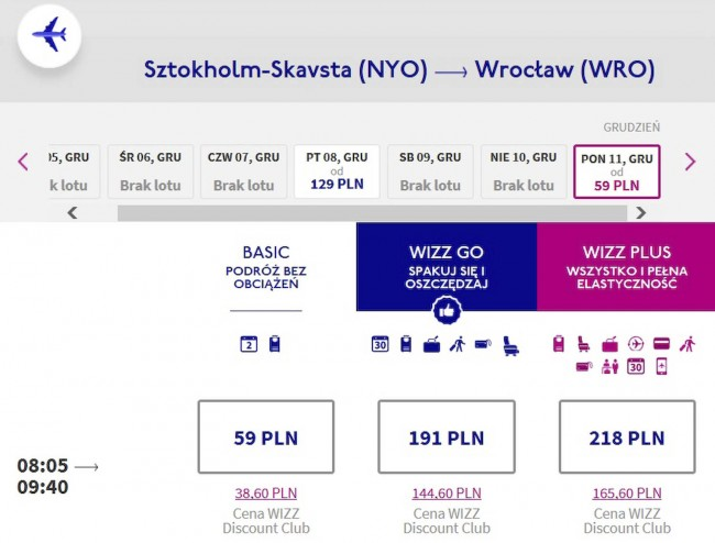 Sztokholm - Wrocław