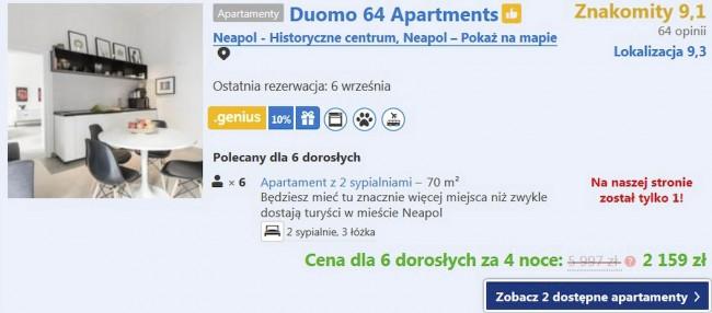 Apartament w Neapolu