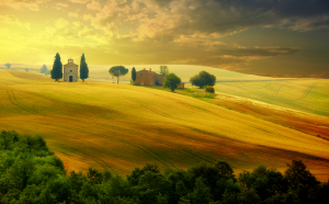Toskania - wyrazista architektura, romantyczne i sielskie pejzaże i wyśmienite wina.
