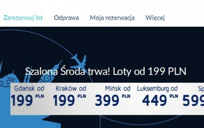 LOT Szalona Środa: Gdańsk z Krakowa za 199 zł/os, Mińsk od 399 zł/os, Luksemburg od 449 zł/os, Split od 599 zł/os