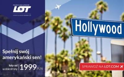 LOT: Loty do Los Angeles, Nowego Jorku z trzech polskich miast od 1999 zł/os